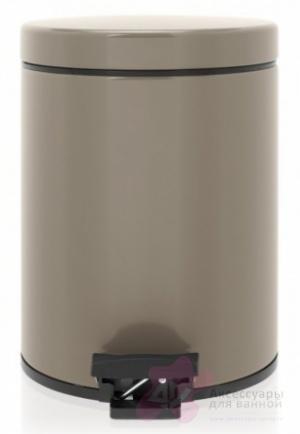 Ведро мусорное Brabantia 425028 с педалью (5 литров Taupe (темно-серый