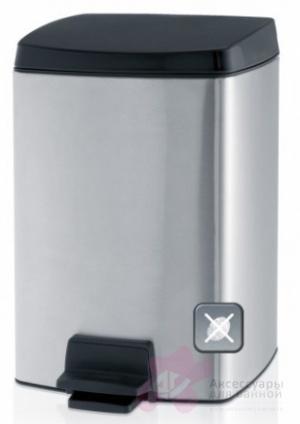 Ведро мусорное Brabantia 461804 с педалью (10 литров Matt Steel Fingerprint Proof (сталь матовая с защитой от отпечатков пальцев
