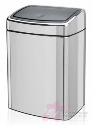 Ведро мусорное Brabantia 477201 Touch Bin прямоугольное (10 литров Brilliant Steel (сталь полированная