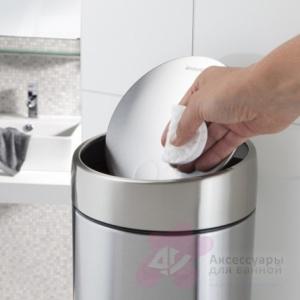 Ведро мусорное Brabantia Slide Bin 477546 (5 литров Matt Steel Fingerprint Proof (мат. сталь с защитой от отпечатков пальцев