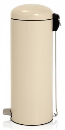 Ведро мусорное Brabantia Retro Slim 479168 с педалью (20 литров `MotionControl` Almond (миндальный