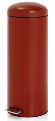 Ведро мусорное Brabantia Retro Slim 479182 с педалью (20 литров `MotionControl` Deep Red (темно-красный