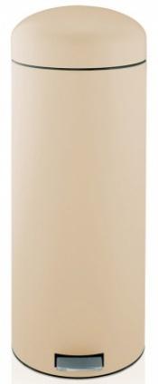 Ведро мусорное Brabantia Retro Bin 479281 с педалью `MotionControl` (30 литров Almond (миндальный