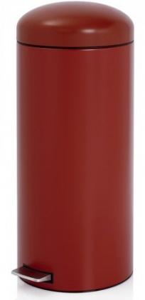 Ведро мусорное Brabantia Retro Bin 479304 с педалью `MotionControl` (30 литров Deep Red (красный