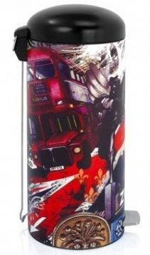 Ведро мусорное Brabantia Retro Bin 480324 с педалью `MotionControl` (30 литров London (Лондон