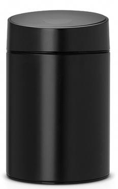 Ведро мусорное Brabantia Slide Bin 483189 (5 литров Matt Black (черный матовый