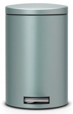 Ведро мусорное Brabantia 484209 с педалью (12 литров `Silent` Металлик мятный