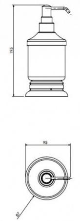 Дозатор жидкого мыла Cameya Rychmond A1612K настольный бронза/керамика