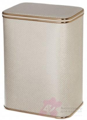 Корзина Cameya KLG-M для белья 45 х h48 см цвет серый (кант золотой)