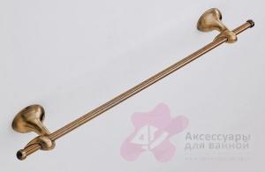 Полотенцедержатель Carbonari Riccio Anticata 60RI ANT BR одинарный 51 см античная бронза