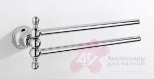 Полотенцедержатель Carbonari Celeste ADCE CR двойной 35 см хром
