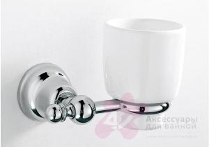 Стакан Carbonari Celeste PBCE подвесной хром / керамика белая