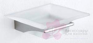 Мыльница Carbonari Broke PSBK подвесная хром / стекло матовое