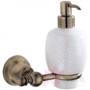 Дозатор для мыла Carbonari Celeste Anticata PSCE2 ANT BR подвесной античная бронза / керамика белая
