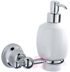 Дозатор для мыла Carbonari Celeste PSCE2 подвесной хром / керамика белая