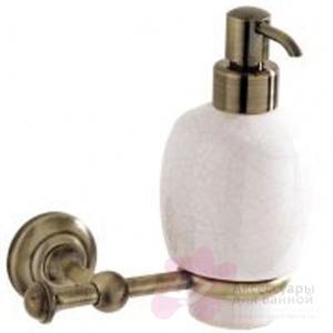 Дозатор для мыла Carbonari Gamma Anticata PSGA2 ANT BR подвесной античная бронза / керамика белая