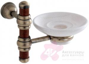 Мыльница Carbonari Silvia Anticata PSSI ANT BR подвесная античная бронза /керамика белая