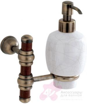 Дозатор для мыла Carbonari Silvia Anticata PSSI2 ANT BR подвесной античная бронза / керамика белая