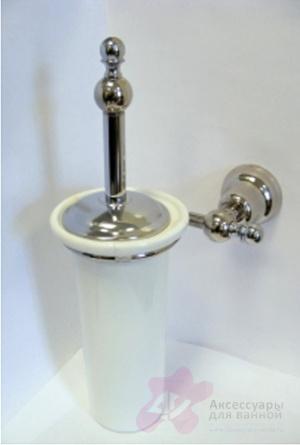 Ершик Carbonari Celeste SCCE2 для туалета настенный хром
