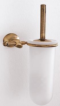 Ершик Carbonari Riccio Anticata SCRI ANT BR для туалета настенный античная бронза