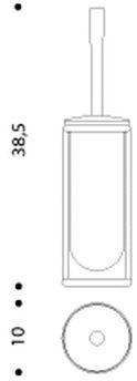 Ершик для туалета Colombo Luna B0106.000 напольный хром / стекло матовое