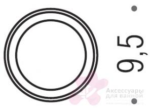 Стакан Colombo Luna B0141.000 настольный хром / стекло матовое