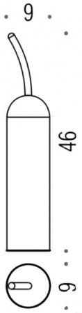 Ершик для туалета Colombo Melo B1206.000 напольный хром
