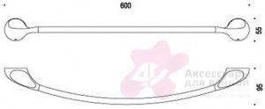 Полотенцедержатель Colombo Melo B1210.000 одинарный длина 60 см хром