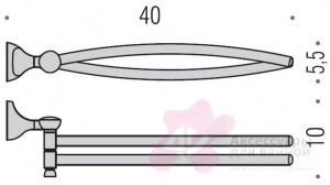 Полотенцедержатель Colombo Melo B1212.000 двойной длина 40 см хром