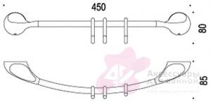 Полотенцедержатель Colombo Melo B1271.000 одинарный с крючками 45 см хром