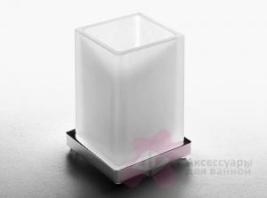 Стакан Colombo Look  B1641.000 настольный хром / стекло матовое