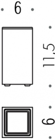 Стакан Colombo Look B1643.000 настольный хром