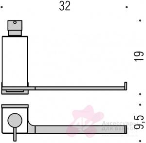 Полотенцедержатель Colombo Look B1674.000 с дозатором хром
