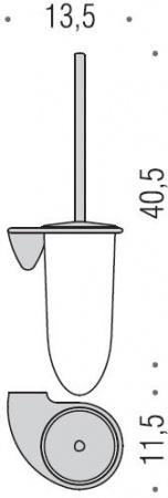 Ершик для туалета Colombo Khala B1807.000 подвесной хром / стекло матовое