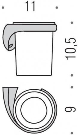 Стакан Colombo Link B2402.000 DX подвесной (правый хром / стекло матовое