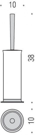 Ершик для туалета Colombo Link B2406.000 напольный хром / стекло матовое