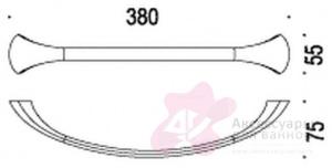 Полотенцедержатель Colombo Link B2409.000 одинарный длина 38 см хром