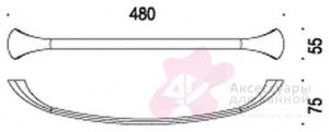Полотенцедержатель Colombo Link B2410.000 одинарный длина 48 см хром