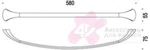 Полотенцедержатель Colombo Link B2411.000 одинарный длина 58 см хром