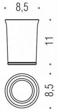 Стакан Colombo Link B2441.000 настольный хром / стекло матовое