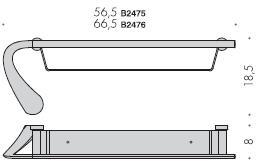 Полотенцедержатель Colombo Link B2475.000 с полкой длина 56,5 см хром