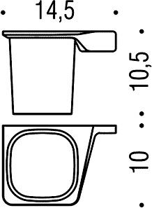 Стакан Colombo Alize B2502 DX подвесной (правый хром
