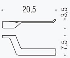 Бумагодержатель Colombo Alize B2508D открытый хром