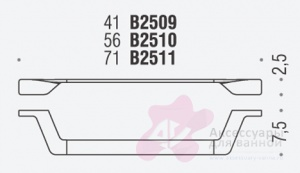 Полотенцедержатель Colombo Alize B2510 одинарный длина 56 см хром