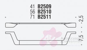 Полотенцедержатель Colombo Alize B2511 одинарный длина 71 см хром