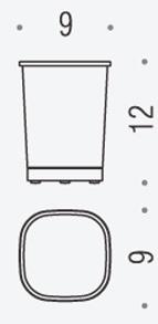 Стакан Colombo Alize B2541 настольный хром