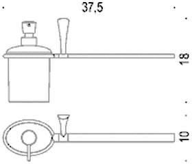 Дозатор мыла Colombo Land B2874.000 DX с полотенцедержателем (правый хром