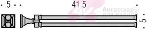 Полотенцедержатель Colombo Portofino B3212 CR двойной длина 41,5 см хром