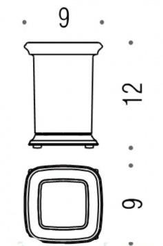 Стакан Colombo Portofino B3241 CR настольный хром / стекло матовое