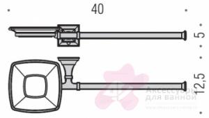 Полотенцедержатель Colombo Portofino B3274 CR DX с мыльницей (левый длина 40 см хром